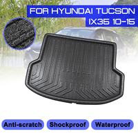 Car Floor Mat Carpet Rear Trunk Anti mud Cover For Hyundai Tucson IX35 2010 2011 2012 2013 2014 2015 Floor Mats    -