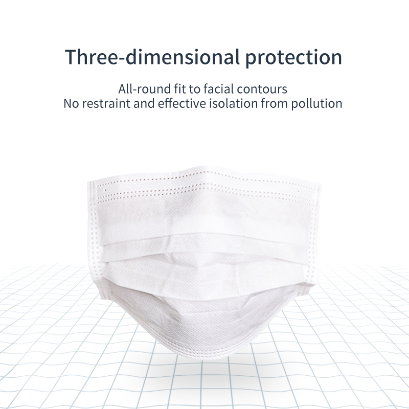 50 PCS/LOT Disposable 3 Layers Health Care Face White Masks Anti  PM2.5 Influenza No-woven Facial Protective Masks Fast Ship