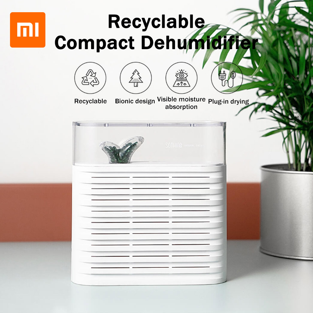 XIAOMI Mijia Dehumidifier Mini Portable Home Air Dryer Desiccant Moisture Absorber Low Noise Cabinet Dehumidifier for xiaomi