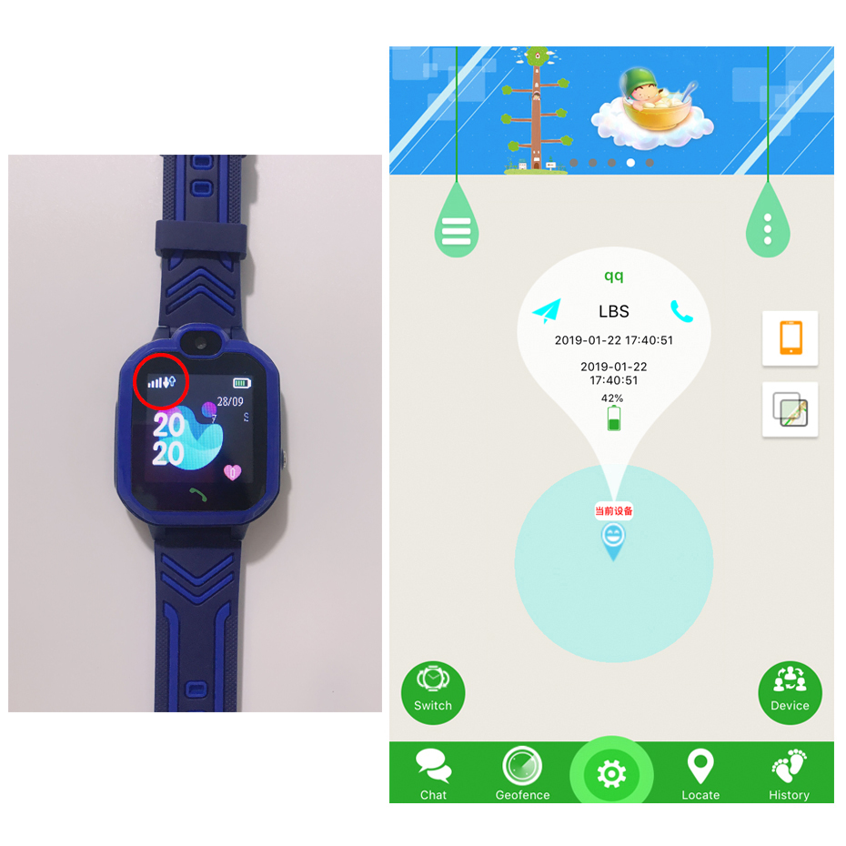 New Kid Smart Watch Children SOS Anti-lost IP67 Waterproof Smartwatch