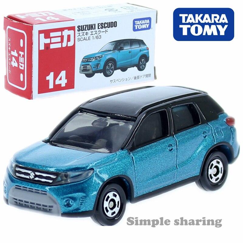 Tomica #14 Suzuki Escudo Vitara 1: 63 6 CM SUV Sport Utility Voertuig Takara Tomy Diecast Metal Model Speelgoed Auto