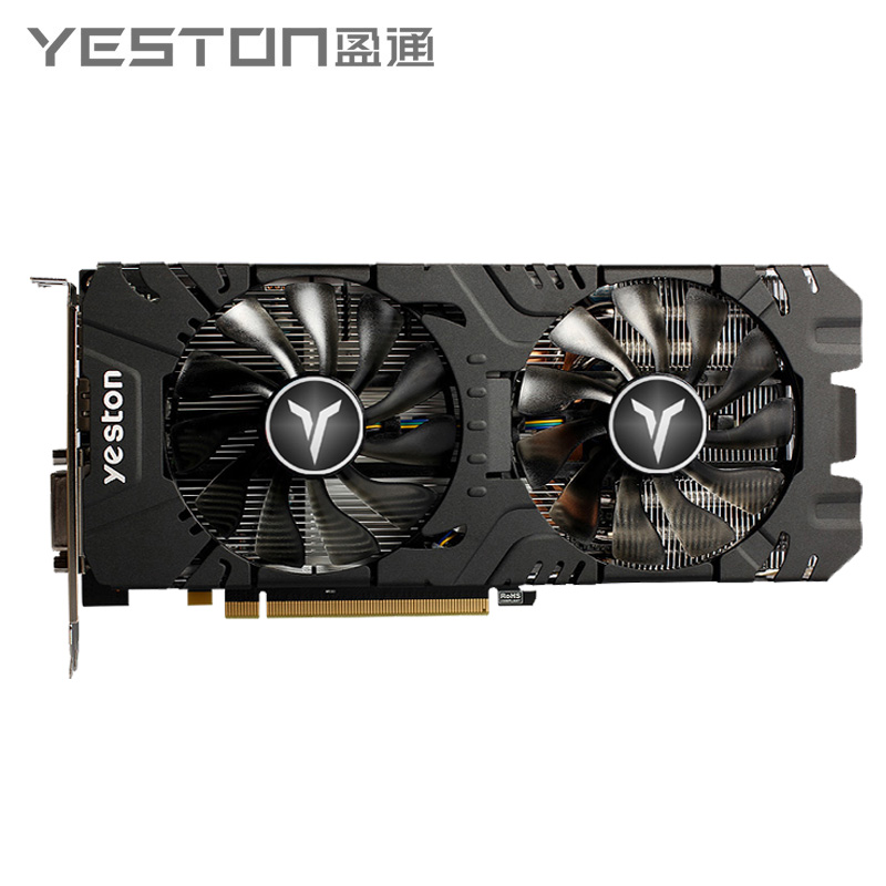 Yeston Radeon RX 580 GPU 8GB GDDR5 256bit Gaming Desktop computer PC <font><b>Video</b></font> Graphics Cards support DVI-D/HDMI PCI-E X16 3.0 image