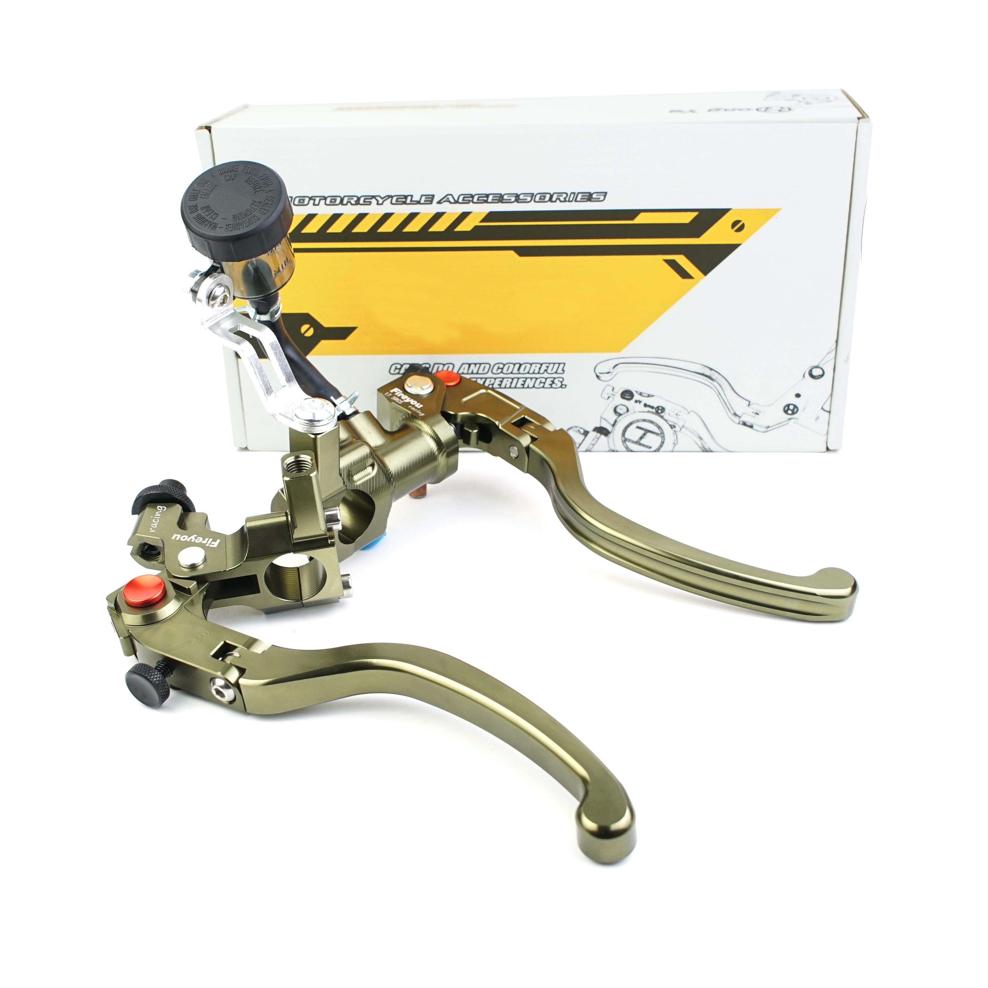 Складной рычаг тормоза для мотоцикла с радиальным креплением, кованый главный цилиндр 17.5rcs, ручка сцепления для Кафе Racer Nanja 400R
