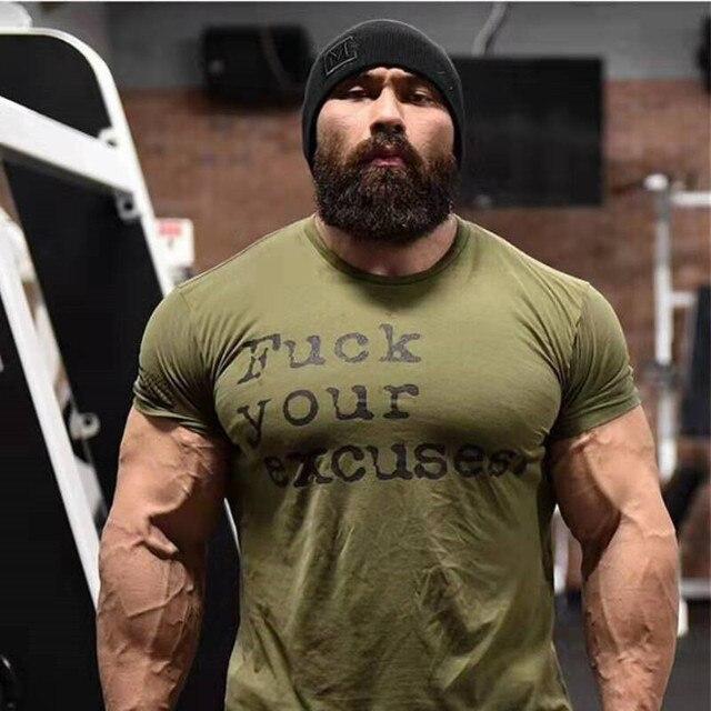 2019 Men Brand Sport T-shirt Bodybuilding Breathable Cotton Shirts Men Short Sleeve Workout Male Running Tees Tops Plus Size 3XL