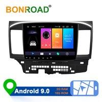 Bonroad 2 din Android 9.0 Car Multimedia Player stereo receiver Car Radio GPS Navigation Video For Mitsubishi lancer x 2010 2015