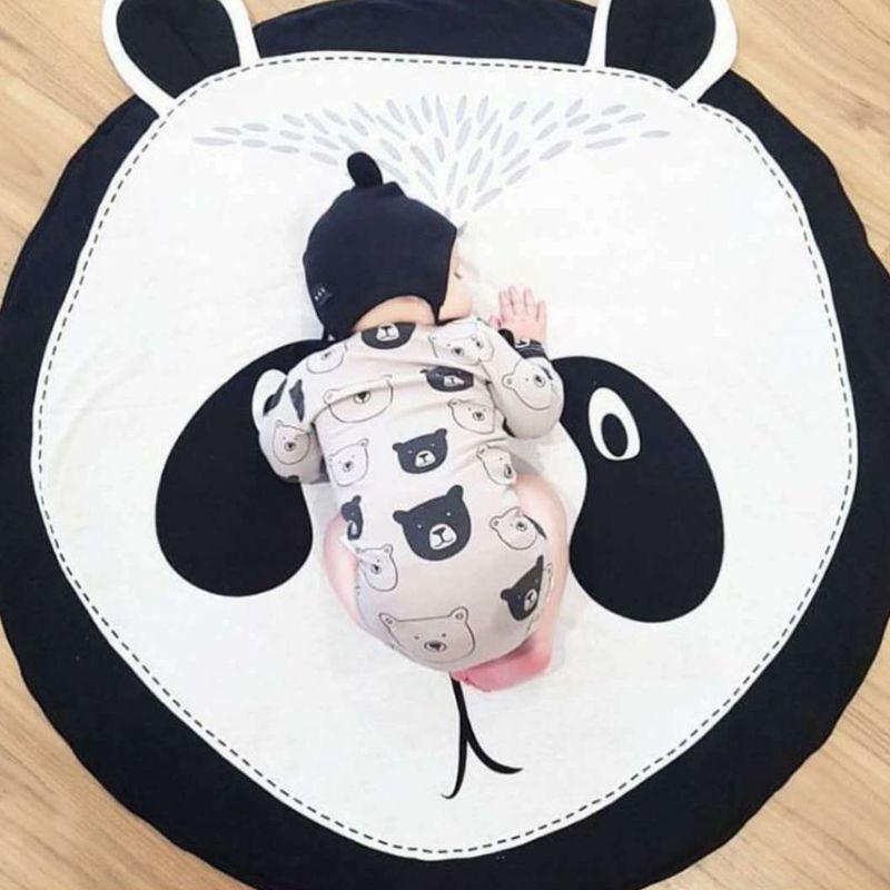 Cartoon Panda Cotton Children Crawling Mat Kids Game Round Pad Baby Room Decoration Carpet