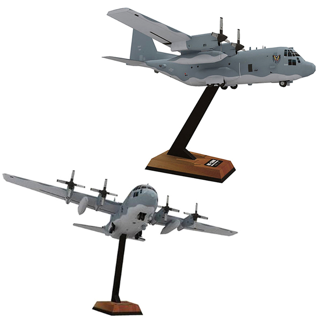High Quality AC130 Ghost Aerial Gunship Aircraft Paper Model Military Fighter Paper Model 2