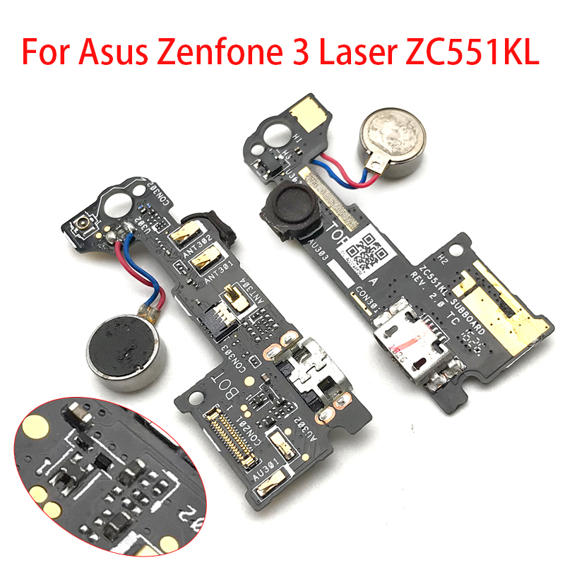 Original For Asus Zenfone 3 Laser ZC551KL Dock Connector Micro USB Charger Charging Port Flex Cable Replacement Parts