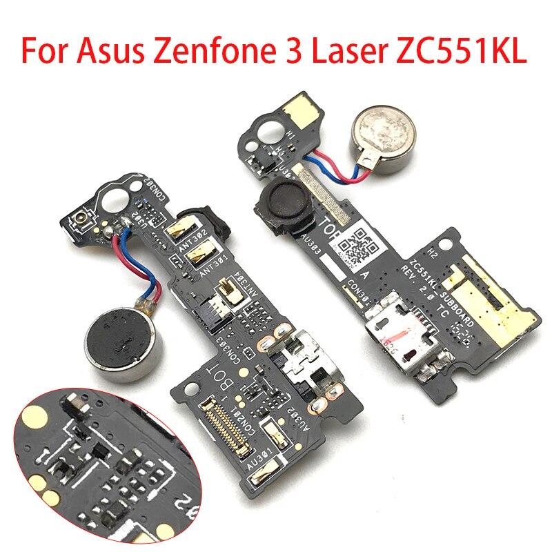 Original For Asus Zenfone 3 Laser ZC551KL Dock Connector Micro USB Charger Charging Port Flex Cable Replacement Parts