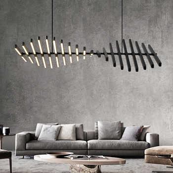 Moderna iluminação led lustre nordic loft preto/branco luzes penduradas sala de estar casa deco luminária restaurante barra luminárias