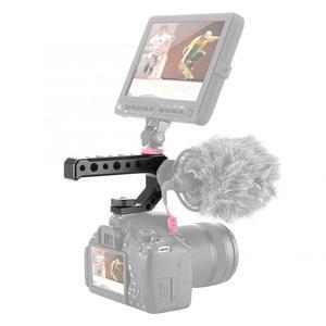 Image 2 - UURIG R005 Universale Hand Grip Maniglia Della Telecamera con Fredda Shoe Mount 1/4 e 3/8 Fori per il Monitor Microfono luce di riempimento
