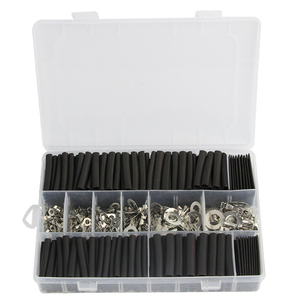 300pcs Black Insulated Sealed