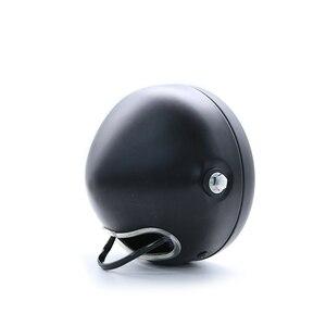 Image 5 - Faro delantero LED Vintage para motocicleta CG125 Cafe Racer, DRL, Retro, de Metal, 12V, 55W, Hi Beam, 6,8 pulgadas