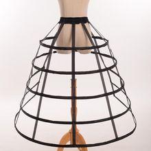 Hollow Ruffled Bird Cage Fishbone Skirt Support Girls Cosplay Petticoat