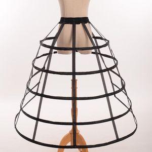Image 1 - Hollow Ruffled Bird Cage 생선 뼈 치마 지원 Girls Cosplay Petticoat