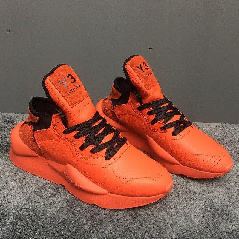 2019 mode hommes baskets en cuir véritable femmes vulcanisé chaussures unisexe respirant papa chaussures de haute qualité