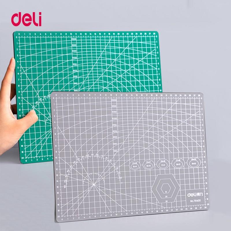 Deli PVC A2 A3 A4 разделочная доска разного размера 3 мм Толщина двухсторонний самозаживляющий DIY мягкий коврик для резки