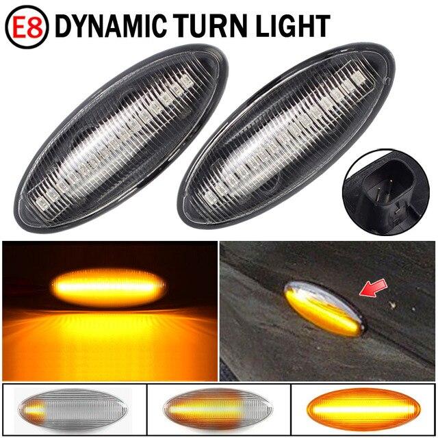 2 sztuk LED dynamiczny kierunkowskaz światło obrysowe boczne sekwencyjne migacz światło do toyoty Yaris COROLLA Auris Mk1 E15 RAV4 Mk3