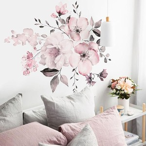 Peony Flowers Wall Sticker Decorative Art Stickers For Room Decoration Home Decals Girls Bedroom Home Decor Mural Wall Sticker