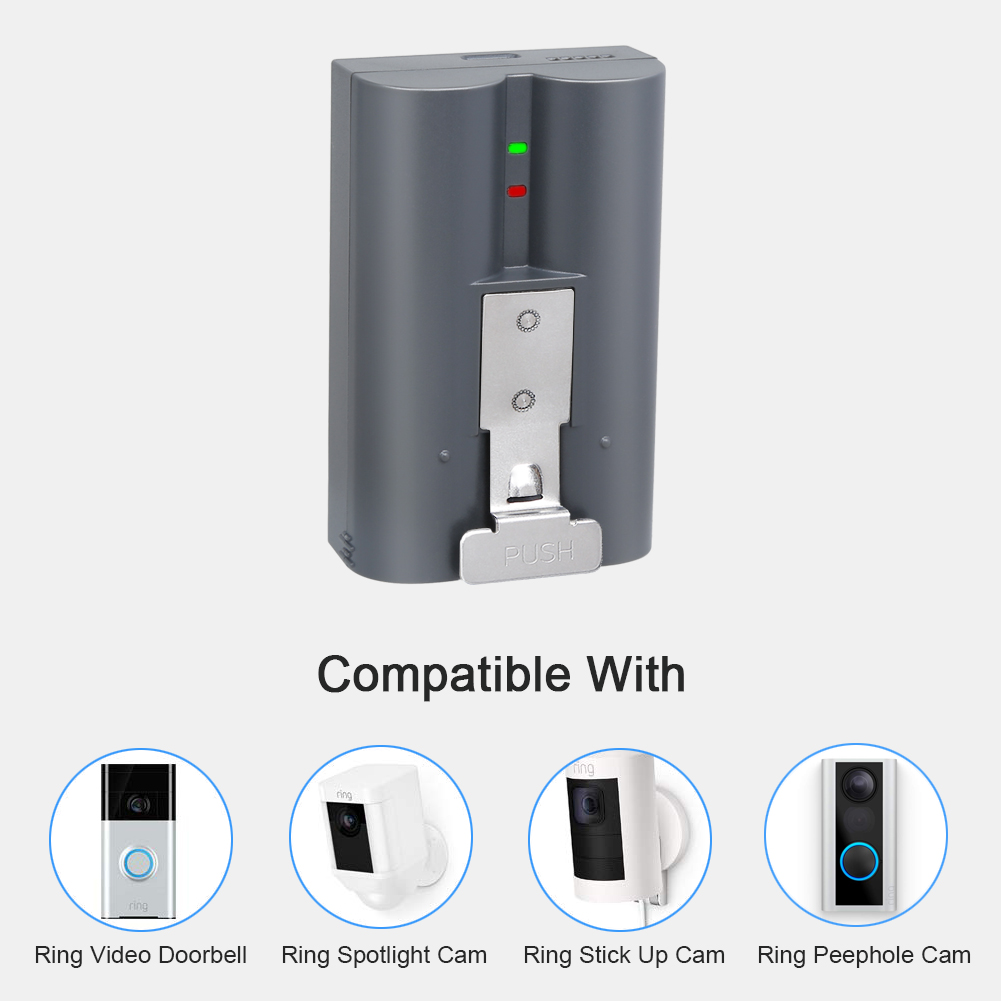 Batteries NOT Included ,Type 2 OLAIKE Battery Charger Station Compatible with Video Doorbell 2 /& 3,Spotlight Cam Battery,Peephole Cam /& Stick Up Cam Battery,Portable Dual Port Charging with DC Adapter