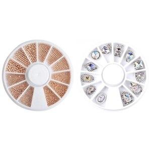 5.6cm Nail Art Sticker Tip Decal 3D Glitter F & 5mm Nail Art Sticker Tip Decal 3D Acrylic Glitter Manicure Studs (O)