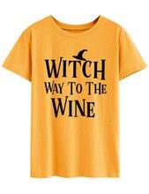 witch tops gothic halloween printed pumpkin t shirt 90s plus size women casual print o-neck harajuku 2019 christmas streetwear
