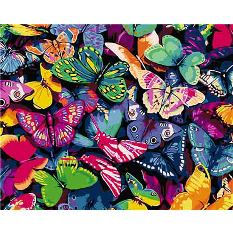 Beautiful Butterfly Pictures By Numbers DIY Digital Acrylic Oil Painting On Canvas Handmade Wall Posters For Living Room