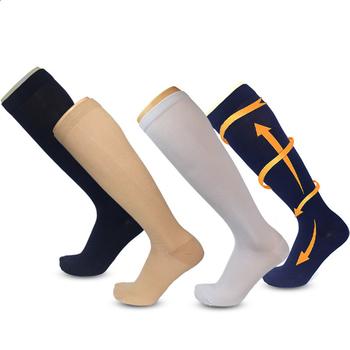 Skarpety uciskowe pończochy ciśnienie Indoor outdoor Stocking knee wysoka ulga dla nóg Stretch ciśnienie cyrkulacja sport Stock tanie i dobre opinie Podkolanówki WOMEN Jazda na rowerze