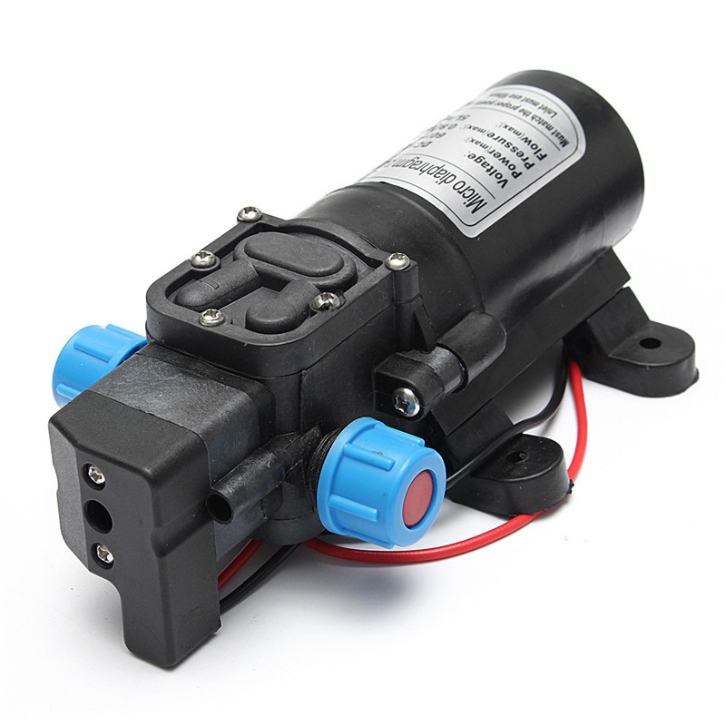 DC 12V 120PSI 5L/MIN Agricultural Electric Water Pump Black Micro High Pressure Diaphragm Water Sprayer Car Wash 12 V image