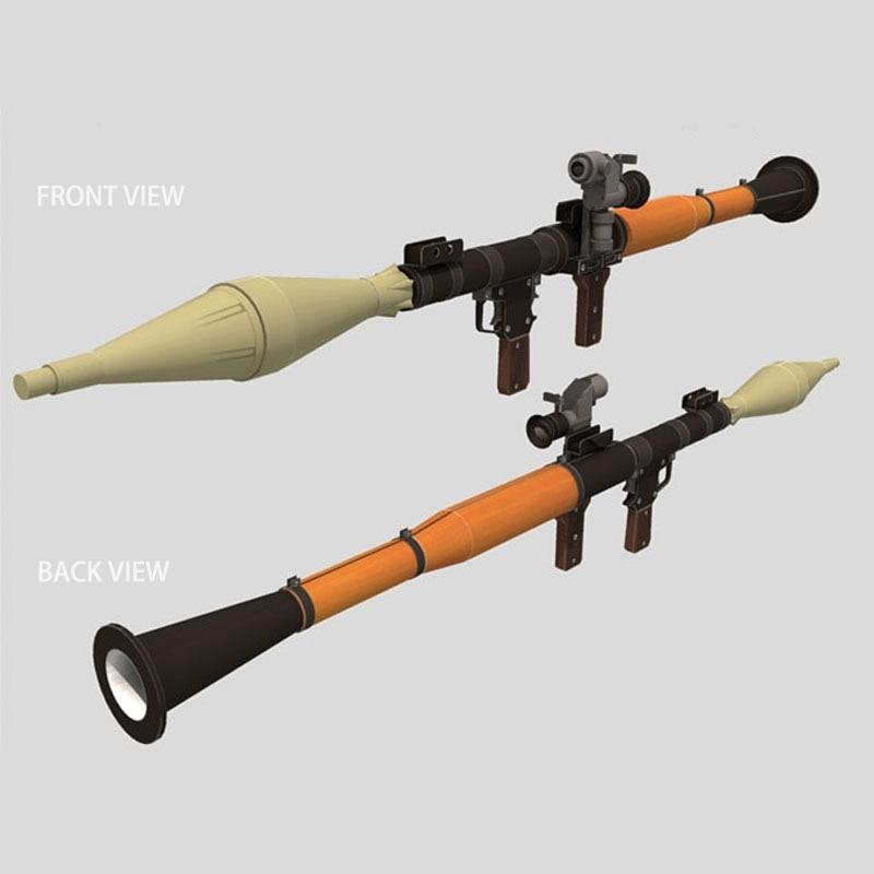 1:1 120cm Rocket Propelled Grenade DIY 3D Paper  Card Model Building Sets Construction Toys Educational Toys Military Model