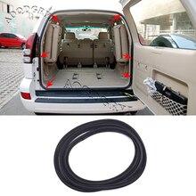 Rubber Black Trunk Tailgate Seal Strip For Toyota Land Cruiser Prado 120 Series 2003-2009
