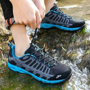 Trekking Shoes Men Hiking Sneakers Men Outdoor Casual Trail Sport Shoes Lightweight Big Size Walking Sneakers 2021