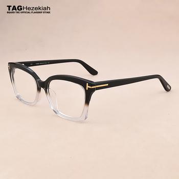 Marka retro komputerowe okulary optyczne rama mężczyźni krótkowzroczność oprawki do okularów kocie oczy kobiety oczu ramki okularów dla mężczyzn oprawki do okularów tanie i dobre opinie TAGHezekiah Octan Unisex Okulary akcesoria GEOMETRIC TF5545 5183 5552 5379 FRAMES prescription glasses eye glasses frames for women