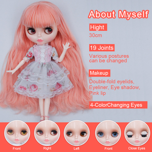 Image 3 - Blyth Doll Customized NBL Shiny Face,1/6 BJD Ball Jointed Doll Custom Blyth Dolls for Girl, Gift for Collection