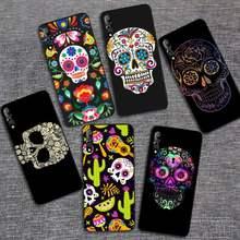 Mexikanische Skeleton Tattoo Zucker Schädel Soft Cover Phone Cases Für Vivo X 20 20plus Y1C 11 17 1 67 71 81 1 V11 11I 17 IQOO