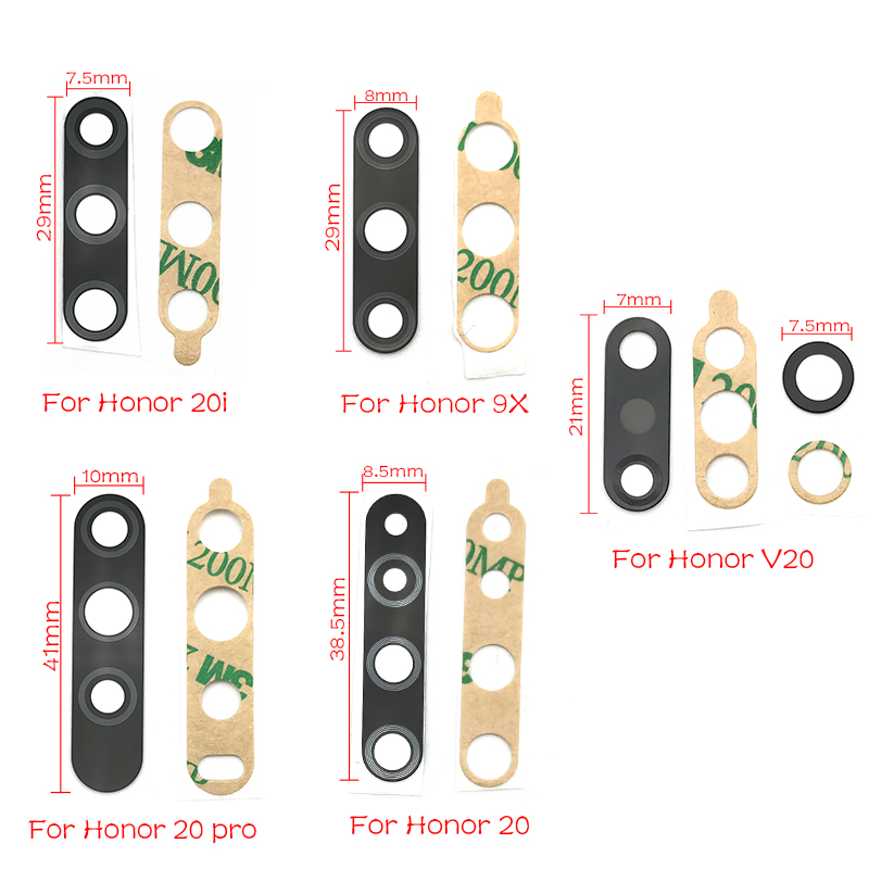 2pcs/lot New For Huawei Honor 9X V20 20i 20 Pro Glass Back Camera Lens With Tape Replacement Parts