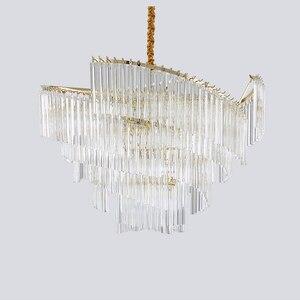 Image 2 - آرت ديكو الحديثة الثريا مصباح لغرفة المعيشة AC110V 220 فولت الذهب تركيبات إضاءة غرفة الطعام