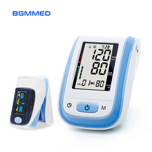 Medical  Blood Pressure Monitor & Fingertip Pulse Oximeter Pressure Gauge Meter oximetro de pulso de dedo pulsioximetro