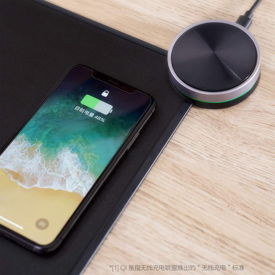 Smart Mouse Pad Qi Draadloze Snelle Lading for iphone 8 xs <font><b>Xiaomi</b></font> Mi9 Wireless Charging <font><b>Mousepad</b></font> RGB Light image