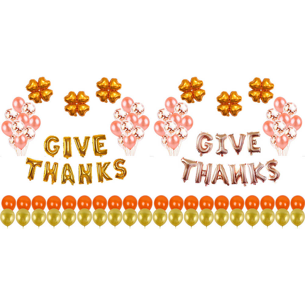 12 Inch Thanksgiving Balon Set Balon Set DIY Thanksgiving Dekorasi Perlengkapan Pesta