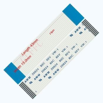 14pin 1.0pitch 43mm-350mm A-type Flexible Flat Cable FFC awm 20624 ROHS for TTL LCD DVD Computer image
