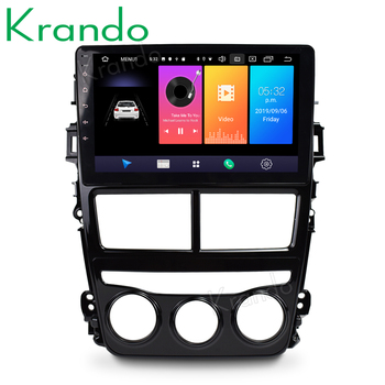 Krando Android 9.0 10.1 IPS touch car radio multimedia system for Toyota VIOS 2018 gps navigation audio player No 2din DVD image