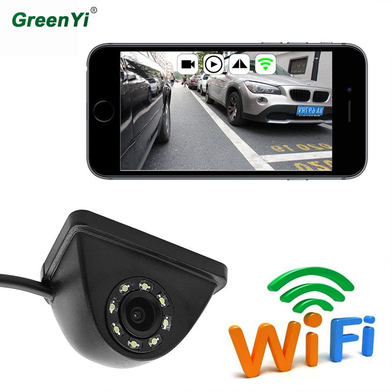 GreenYi Car Mini Wifi Weatherproof HD Night Vision Side View Camera For IOS and Android Front