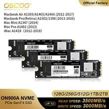 Pcie SSD Macbook Disco Sata M2 Nvme Ram-Disk OSCOO for Air Pro 256GB-512GB 1TB