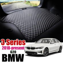 Leather Car Trunk Mat Carpet Tail BMW 330i 320i Cargo Liner For BMW 3 Series 2018 2019 2020 Trunk Boot Mat BMW G20 Liner Pad