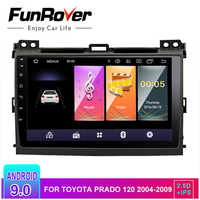 Funrover 2.5D + IPS 2 din Android 9.0 Auto DVD Radio Multimedia für Toyota Prado 120 2004-2009 Auto autoradio navigation GPS stereo