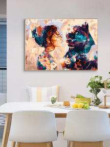 AZQSD Oil-Painting Picture Framed Wall-Art By Numbers Living-Room Home-Decor Adults Colorful