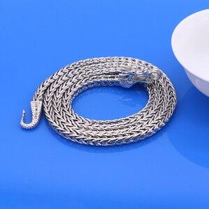 Image 5 - Hommes 925 argent Sterling colliers Dragon 925 argent populaire colliers en argent massif corps chaîne bijoux accessoires Vintage