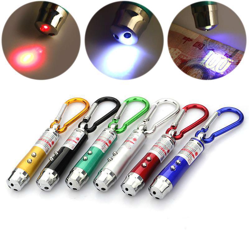 3 In 1 Red Laser Pen 1mV 49 Feet Laser Sight Mini Led Flashlight Beam Light Pointer For Work Teaching Training