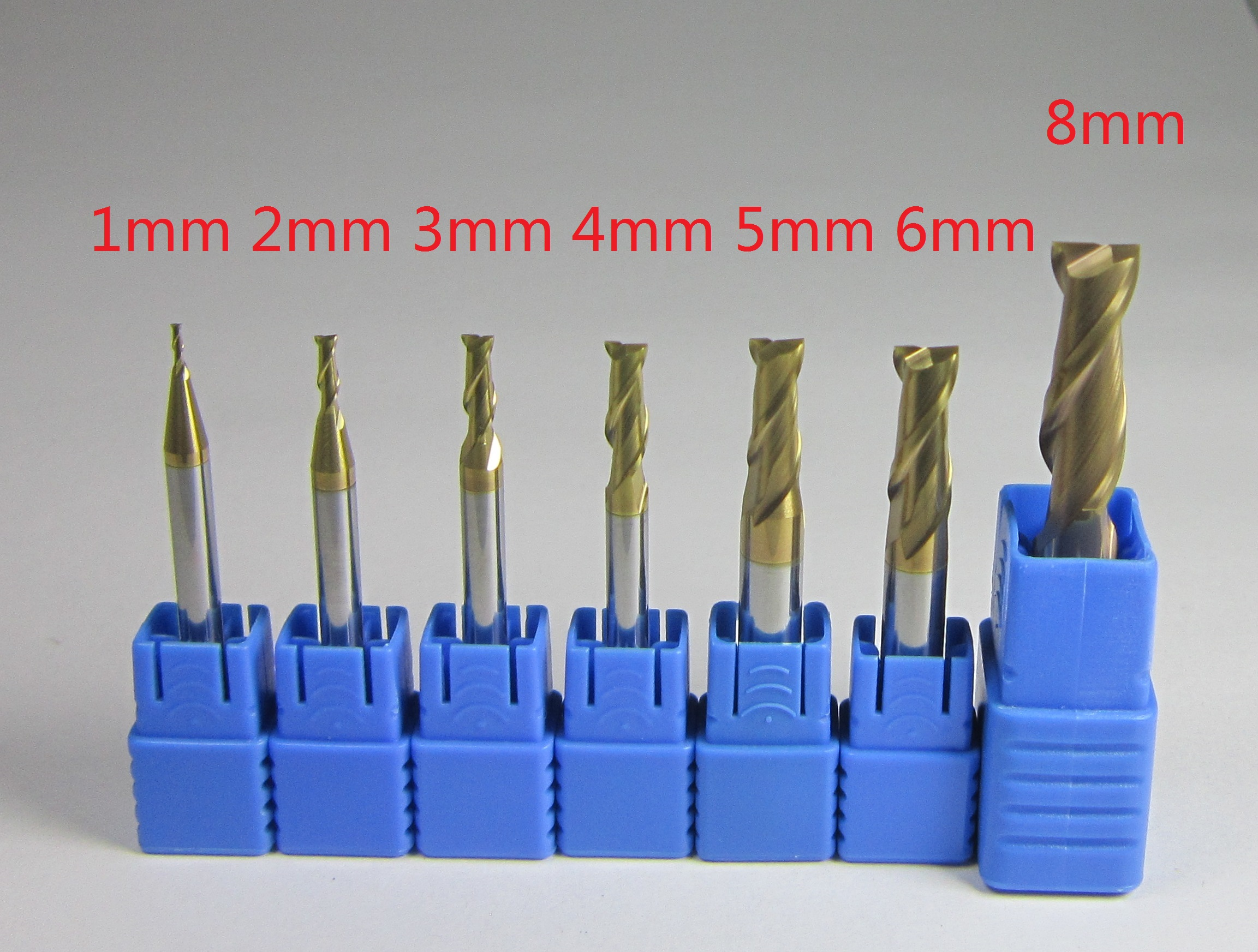 Fresa 1-8mm HRC58 3 Flutes End Mill Cutter Tungsten Carbide CNC Milling Aluminum